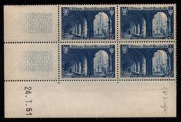 FRANCE N°842** SAINT WANDRILLE COIN DATE DU 24/1/1951 - 1950-1959