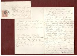 Klassik-Brief 1865 Als EF Mit Viel Inhalt, Briefpapier Oben Geprägt, Fetter K1 Mit Nebenstempel - Briefe U. Dokumente