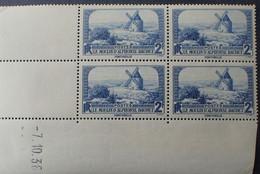 R1507/27 - 1936 - LE MOULIN D'ALPHONSE DAUDET - N°311 TIMBRES NEUFS** CdF Avec CD : 7.10.38 - 1930-1939