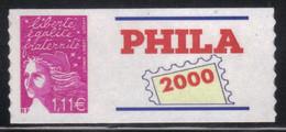 France Phila 2000 Adhésif 1,11€ Neuf** MNH (AF81) - KlebeBriefmarken
