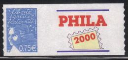 France Phila 2000 Adhésif 0,75€ Neuf** MNH (AF81) - KlebeBriefmarken