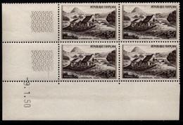 FRANCE N°843** GERBIER DE JONC COIN DATE DU 9/1/1950 - 1950-1959