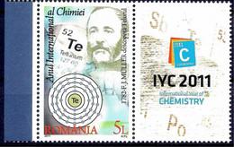 Romania 2011 Franz J.Müller Chemist Science Chemistry Scientists 1v Lbs MNH - Unclassified
