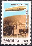 Romania 2004 Zeppelin LZ 127 Aircraft Balloon Airship Transport Black Church MNH - Unclassified