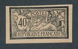 DX-531: FRANCE: Lot Avec N°119** ESSAI DE COULEUR EN NOIR - 1900-27 Merson