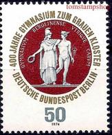 Germany B 1974 Berlin High School/Athena & Hermes Staues Mythology Education MNH - Ohne Zuordnung