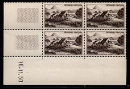 FRANCE N°843** GERBIER DE JONC COIN DATE DU 16/11/1950 - 1950-1959