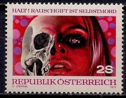 Austria  1973 Anti-Drugs Campaign Health Medical Skull & Face 1v MNH - Zonder Classificatie