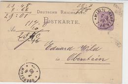 Ganzsache Aus K1 KIRN (Nahe) 2.8.83 Nach K1 OBERSTEIN - Brieven En Documenten
