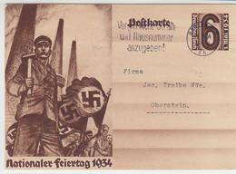 P 251 Aus DÜSSELDORF 26.5.34 Nach Oberstein - Brieven En Documenten