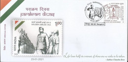 Special Cover With Special Cancellation On Netaji Subhash Chandra Bose Parakram Diwas ,Indien Inde - Cartas