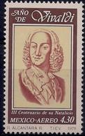 Mexico 1978 A. Vivaldi Composer 300th Birth Anniversary Music People 1v MNH - Unclassified