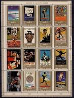 Umm Al Qiwain 1972 Olympic Games History Sports Boxing Cycling Athletics MNH - Unclassified