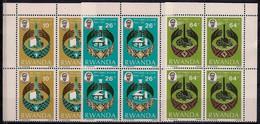 Rwanda 1977 OCAM Culture Economy Technology Security President Hands Bl4 MNH - Unclassified