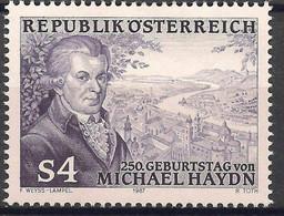 Austria 1987  Michael Haydn Composer Music People View Compositori 1v MNH - Music