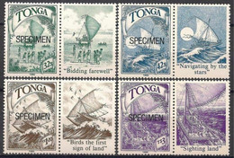 Tonga 1990 Polynesian Discovery Ships Sailing Navigation SPECIMEN  Lbs Navi MNH - Unclassified