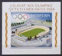 Albania 1968 Mexico Football Sport Olympics Stadium Flags Architecture M/s MNH - Sin Clasificación