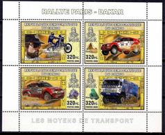 Congo Racing Paris-Dakar Rally Motorcycle Auto Sports Cars Minerals M/s MNH - Non Classificati