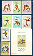 Romania 1968 Mexico Olympic Games Sports Running Maya Calendar M/s + 8v MNH - Unclassified