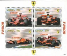 Liberia 2008 Ferrari Cars GP F1 Motor Racing Sport Transport M/s MNH - Unclassified