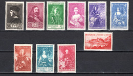 MONACO  N° 185 à 194   NEUFS SANS CHARNIERE   COTE 575.00€    PAYSAGE PRINE PRINCESSE - Unused Stamps
