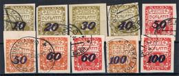 Serie Completa TAXE, Impuestos Tasas Doplatit CHECOSLOVAQUIA, Yvert 31-40 º - Portomarken