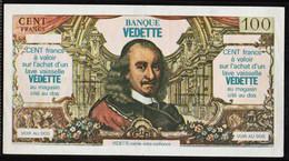 FRANCE Bons De Nécessité: Magnifique Billet Fictif Publicitaire: 100F Corneille 1977. Pub Banque Vedette..... - Bonos
