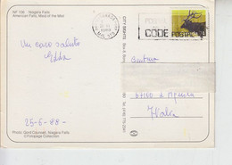 CANADA  1988 - Yvert 1034 - Fauna Cervidi -.- - Lettres & Documents
