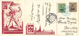 GE13) YUGOSLAVIA CARTOLINA MOSTRA FILATELICA NOVI SAD 1935 - Covers & Documents