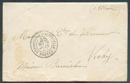 Enveloppe Avec Càd EXPOSITION UNIVERSELLE POSTES Du 20 Juin 1867 Vers Vichy - RR - 17258 - Gedenkstempel