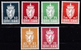 NO657 – NORVEGE - NORWAY - OFFICIAL – 1969→1974 – MI # 91/96 MNH 3,30 € - Officials
