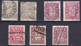 NO720 – NORVEGE - NORWAY – POSTAGE DUE – 1898→1915 – MI # 1→6 USED 11,70 € - Gebruikt