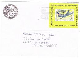 2776 1ERE LIAISON AERIENNE NANCY LUNEVILLE SUR PORTE-TIMBRE UNION PHILATELIQUE DE GONESSE JEAN MERMOZ - 1961-....