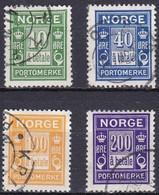 NO724 – NORVEGE - NORWAY – POSTAGE DUE – 1921/27 – Y&T # 8-10/2 USED 45 € - Gebraucht