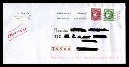 France 2020 : Cérès En Paire 1,40€ + 0.10€ Issue Du Carnet 3087 Sur Lettre / TB - Storia Postale