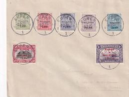 DDY 616 - Enveloppe Série Complète 7 Valeurs OC 55/61 Eupen- Malmédy - EUPEN 8-2-1920 - [OC55/105] Eupen/Malmedy