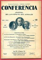 CONFERENCIA  1932 N° 18 5 Septembre Journal Université Annales * Lucie Delarue Mardrus - Souffrance Et Nous - Zonder Classificatie