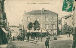 CPA SAINT GALMIER - La Place Nationale - Animée - Circulée - Otros Municipios