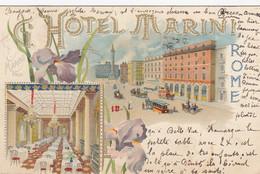 ROMA-HOTEL=MARINI=CARTOLINA GRUSS AUS- VIAGGIATA IL 24-9-1901 - Bares, Hoteles Y Restaurantes