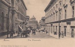 ROMA-VIA NAZIONALE -BELLISSIMA ANIMAZIONE-CARTOLINA NON  VIAGGIATA -1900-1904 - Otros
