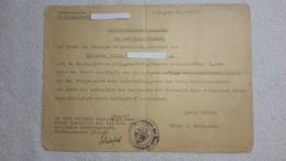 Schreiben Zettel Entlassungsbescheinigung Aus Dem Heeresdienst 31.3. 1945 Ausgemustert - 1939-45