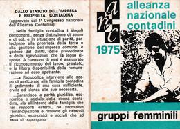 Tessera - Alleanza Nazionale Contadini Gruppi Femminili - 1975 Reggio Calabria - Documents Historiques