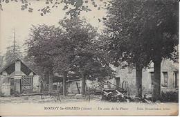 Rozoy Le Grand Un Coin De La Place Carte En Bon état - Other Municipalities
