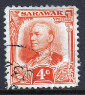 Sarawak 1932 A Single 4c Definitive Stamp - Sarawak (...-1963)