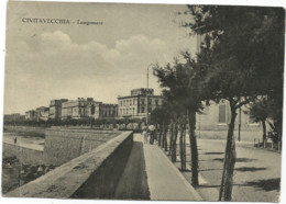 K4929 Civitavecchia (Roma) - Lungomare - Panorama / Viaggiata 1956 - Civitavecchia