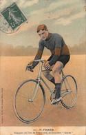 """CPA F.FABER Vainqueur Du Tour De France 1909, Sur Bicyclette """"Alcyon"""" - Radsport"""