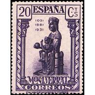 ES641CF-LTV**641TARTESC.Spain.Esgane.Virgen.NUESTRA SEÑORA DE MONSERRAT. 1931 (Ed 641*) - 1931-50 Ungebraucht