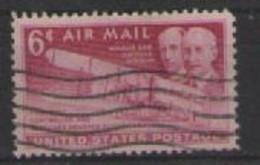 STATI UNITI D'AMERICA POSTA AEREA 1949 ANNIVERSARIO DEL PRIMO VOLO A MOTORE UNIF. A45 USATO VF - 2a. 1941-1960 Usados