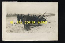 GUERRE 14/18 - FERME D'ALGER (MARNE) EN 1916 - AVION ALLEMAND ABATTU - Guerra, Militares