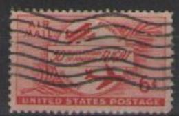 STATI UNITI D'AMERICA POSTA AEREA 1953 CINQUANTENARIO DEL PRIMO VOLO A MOTORE UNIF. A47 USATO VF - 2a. 1941-1960 Usados